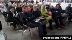 Belarus - Guests at a reading from The Byalyatski Matter in Minsk, 17Jan2013