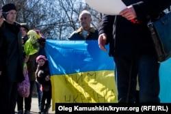 Митинг у памятника Тарасу Шевченко. Симферополь, 9 мая 2015 года