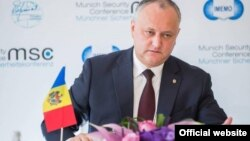 Moldovan President Igor Dodon says uncertainty within the EU means his country must maintain ties to Russia.