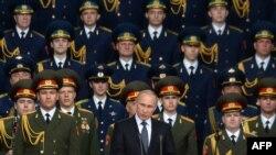 """Путин """"Армия -2015"""" форумунда сүйлөөдө. 16-июнь, 2015-жыл."""