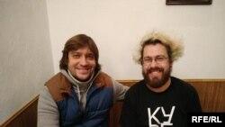 Композитори Роман Григорів (ліворуч) та Ілля Разумейко