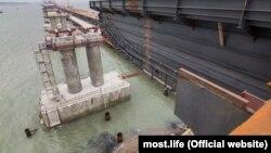 Будівництво Керченського моста, лютий 2018 (Ілюстративне фото)