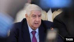 Сурия Ташқи ишлар вазири Валид Ал-Муаллим.