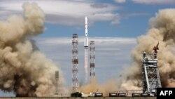 Запуск ракеты с космодрома Байконур. 3 июня 2013 года. Иллюстративное фото.