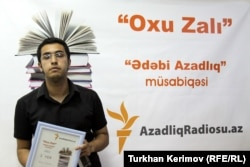 """""""Ədəbi Azadlıq-2011"""" hekayə müsabiqəsinin qalibi Musa Əfəndi, Bakı, 15 iyun 2011"""