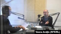 Novinar RSE Zoran Glavonjić i Duško Vujošević