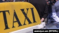 Armenia -- Taxi drivers stage a protest action in Yerevan,1May, 2015