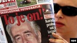 Naslovnice novina o hapšenju Karadžića
