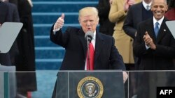 Дональд Трамп ант бергенден кийин элге кайрылды.
