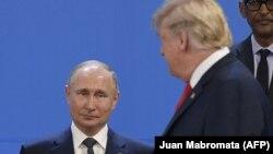 Дональд Трамп и Владимир Путин в Буэнос-Айресе, ноябрь 2018 года