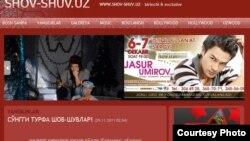 Ўзбек шоу бизнесидаги энг машҳур сайтлардан бири www.shov-shuv.uz Интернет нашридир.