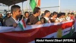 تظاهرة في أربيل للمطالبة باستقلال اقليم كردستان
