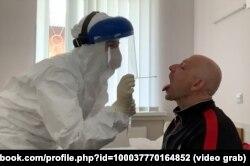 Перший інфікований Covid-19 житомирець проходить ПЦР-тест