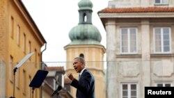 Выступление Барака Обамы на Замковой площади Варшавы 4 июня 2014