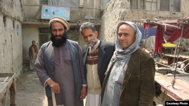Mohammad Isaq (center), head of the Union for Afghanistan's Disabled, in Kabul