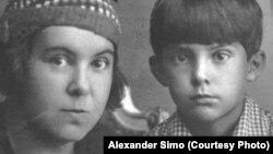 Елена Симо (расстреляна в 1938 году) и ее сын Игорь
