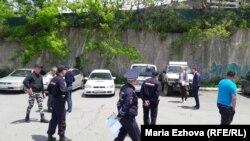 Сотрудники полиции во Владивостоке.