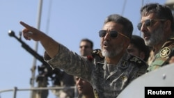 Iran's top naval commander, Admiral Habibollah Sayyari, during war games last month