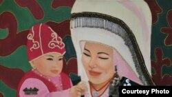 Түркиялык кыргыз сүрөтчү Тажигүл Күнтүз кызынын эмгеги.