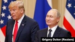 ABŞ-nyň prezidenti Donald Tramp we Orsýetiň prezidenti Wladimir Putin. 16-njy iýul, 2018 ý. Helsinki