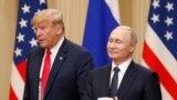 Владимир Путин и Дональд Трамп на совместной пресс-конференции после переговоров. Хельсинки, 16 июля