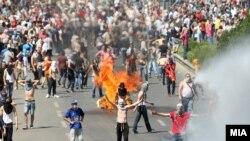 Protestat në Maqedoni