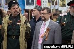 Андрэй Герашчанка (справа), кіраўнік «Рускага дому»