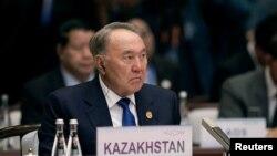 Президент Казахстана Нурсултан Назарбаев на саммите «Большой двадцатки» (G20). Ханчжоу, 4 сентября 2016 года.