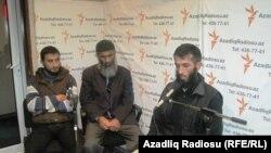 Zaqatalalı dindarlar Mustafa Kazımov, Abakır Qazıyev və Allahyar Yusubov