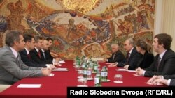 Skopje - Macedonia - Macedonian government representatives meet with representatives from russian Gazprom