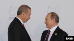 Президент Туреччини Реджеп Тайїп Ердоган і президент Росії Володимир Путін