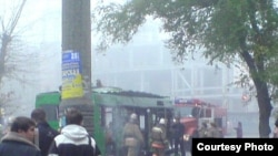 Взрыв произошел в задней части салона, около запасного колеса, на высоте 1 метр 20 сантиметров