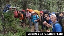 Участники экспедиции памяти Петра Шпиня, среди них и Денис Щукин. Лето 2019 года