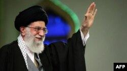 Iranian Supreme Leader Ayatollah Ali Khamenei in Tehran in early April