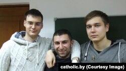 Злева направа: Арцём Баёк, Цігран Саркісян і Яўгеній Карачынскі.