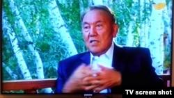 Президент Казахстана Нурсултан Назарбаев дает интервью телеканалу «Хабар». 24 августа 2014 года.