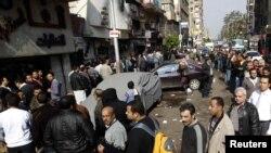 صف شرکتکنندگان در انتخابات پارلمانی مصر