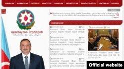 Скриншот официального сайта президента Азербайджана