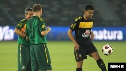 آخرین تمرین تیم ملی برزیل در روز چهارشنبه قبل از بازی با تیم ملی فوتبال ایران