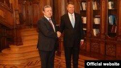 საქართველოს პრემიერ-მინისტრი გიორგი კვირიკაშვილი, რუმინეთის პრეზიდენტი კლაუს იოჰანი