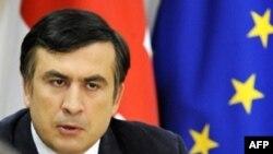Михаил Саакашвили на заседании Совета безопасности. Тбилиси, 22 августа 2008