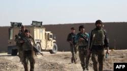 Гильменд уәлаятындағы ауған ұлттық армиясының сарбаздары. Ауғанстан, 21 желтоқсан 2015 жыл.