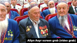 Türkmenistanly uruş weteranlary. Illýustrasiýa suraty