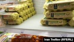 88 рублей за десяток яиц – это большая удача. Начало февраля, Москва