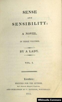 "Ceyn Ostinin ilk romanı ""Sense and Sensibility"" (1811)"
