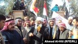 مشهد من مظاهرات الفلوجة - من الارشيف