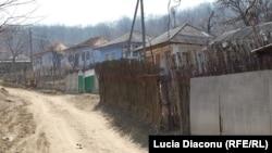 Pe o uliţă din satul Schinoasa, raionul Călăraşi