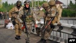 Украинские военные на подступах к Славянску