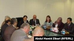 جانب من إجتماع لجنة وضع سياسات العمل في كردستان
