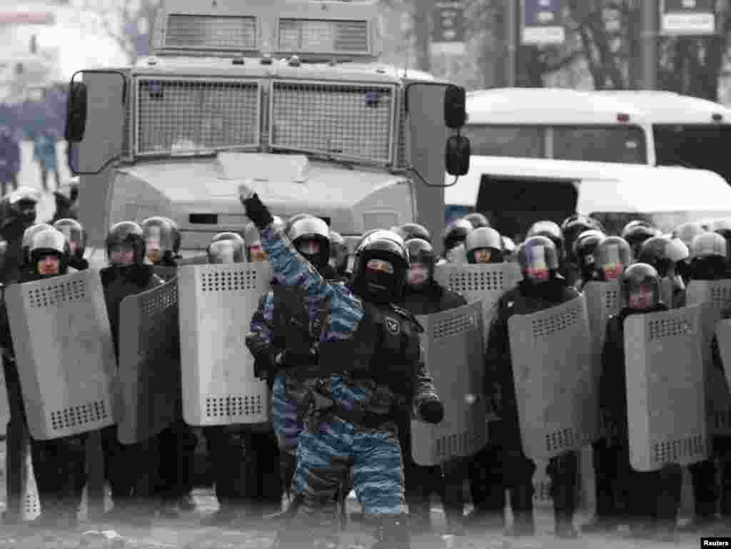 С 22 января на Украине начинают действовать законы, предусматривающие крупные штрафы и аресты за участие в акциях протеста